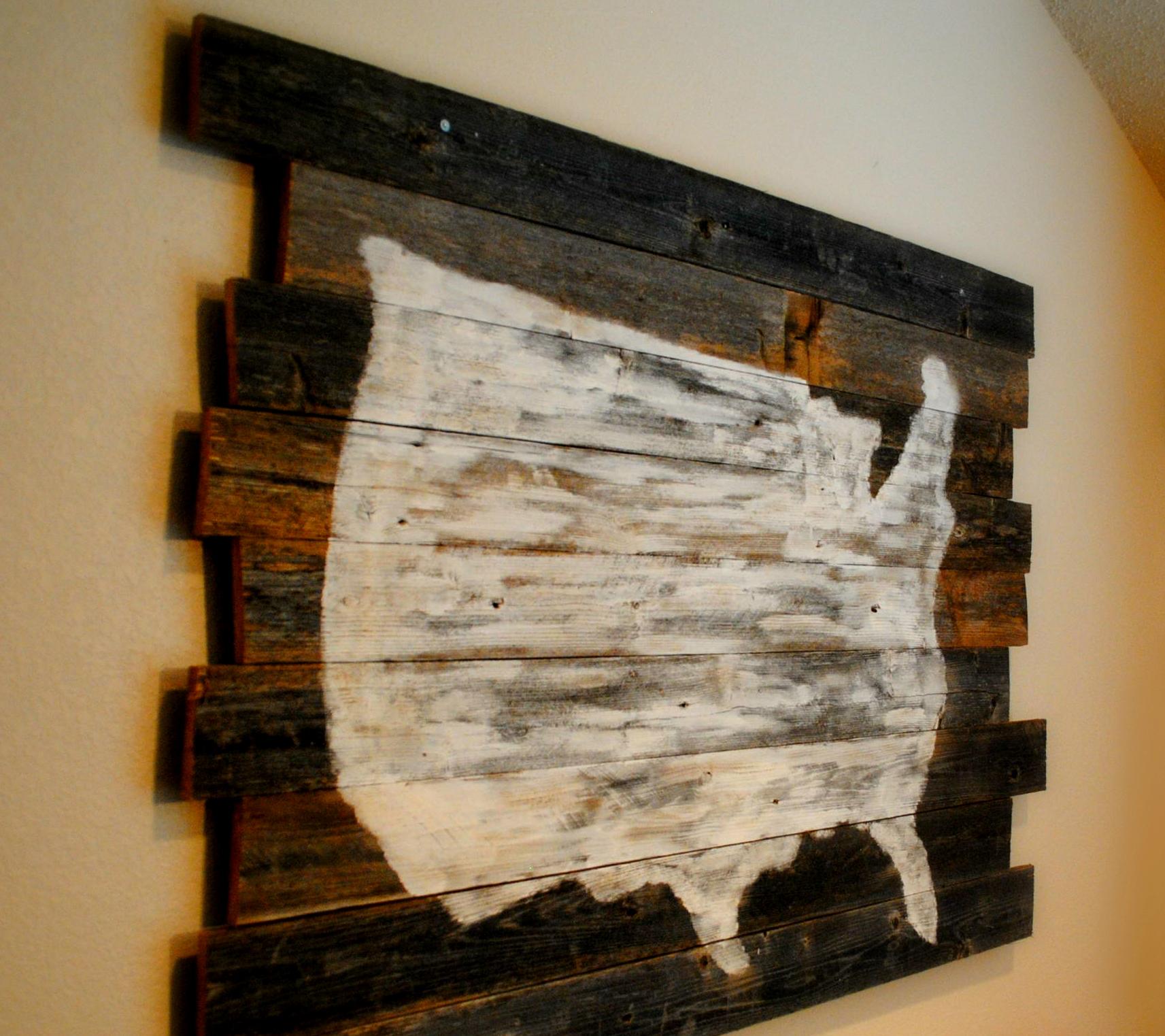 Scrap Wood US Map Kimberlymungle - Wood us map