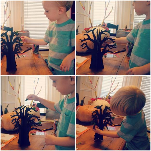 Harvest Tree Collage