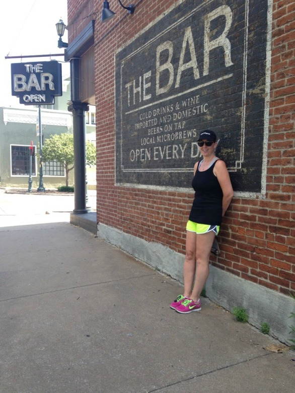 On location where Gone Girl was filmed.  (The Bar in Cape Girardeau, MO)